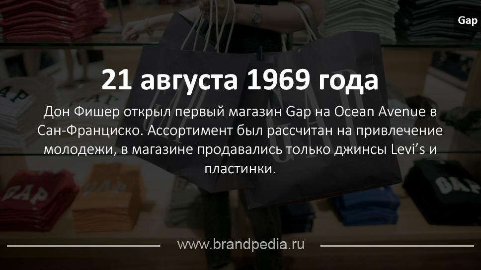e272821ec848 История бренда Gap   Brandpedia - история брендов и шедевры рекламы